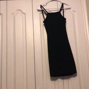 Black bodycon dress/ open back